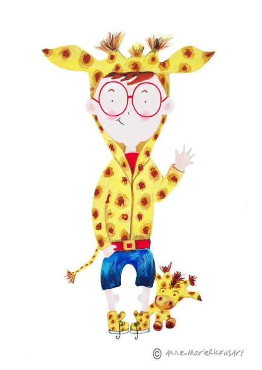 Giraffe lovin' main character!