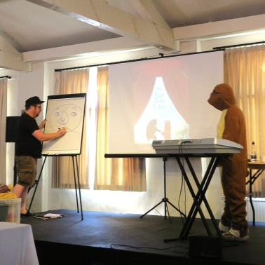 Author&Illustrator, David Litchfield, drawing the bear from his book, The Bear and the Piano.