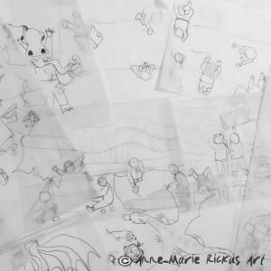 A mountain of sketches!