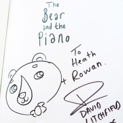 The illustrated and signed page
